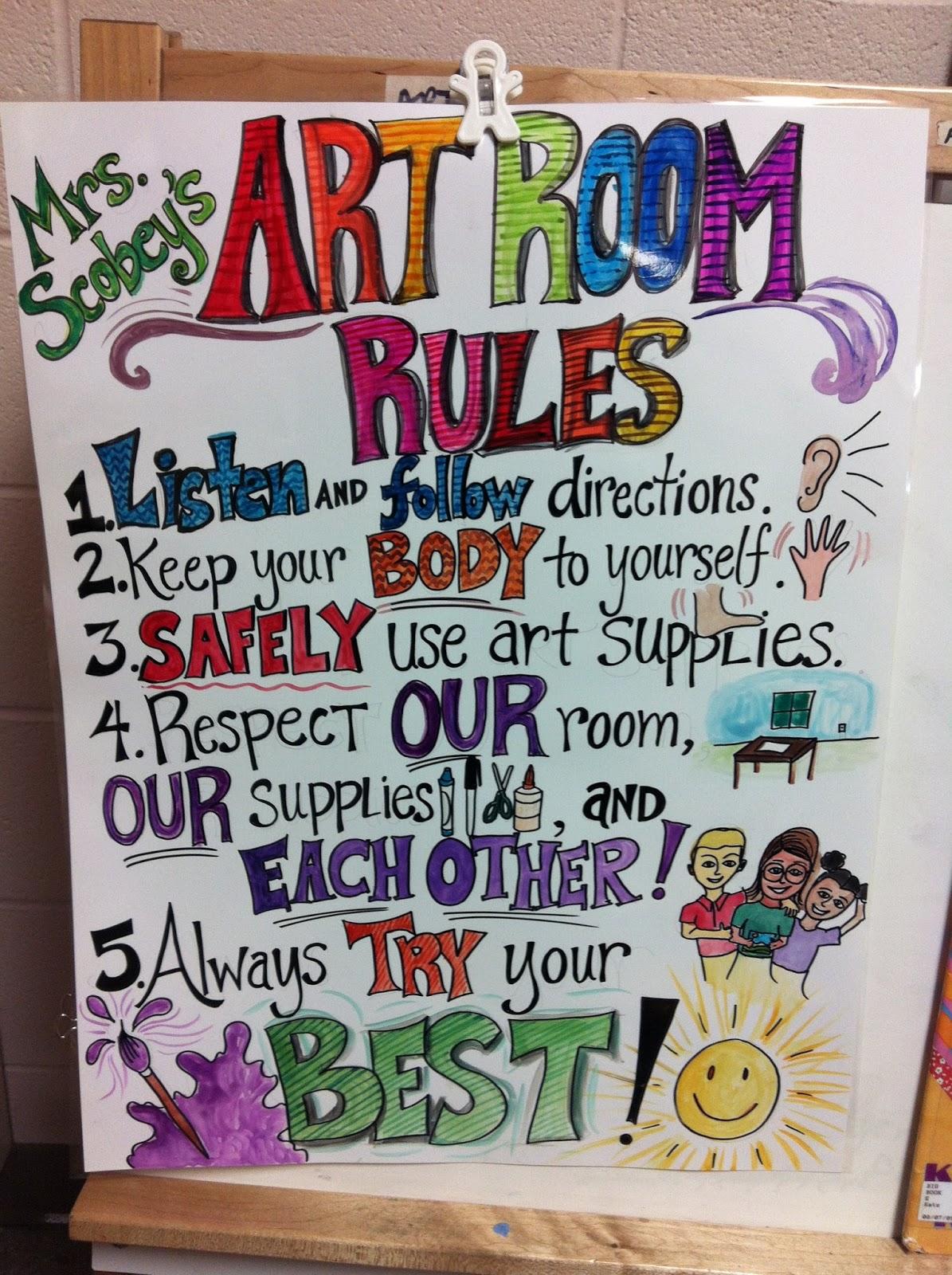 Art Room Drawing: ChumleyScobey Art Room: Welcome Back